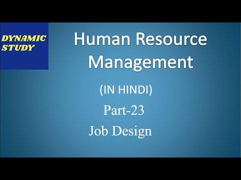 Job Design in