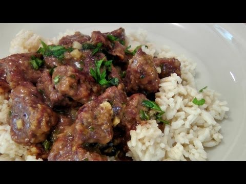 Garlic And Lemon Beef Tips - Recipe By Laura Vitale - Laura In The Kitchen Episode 153