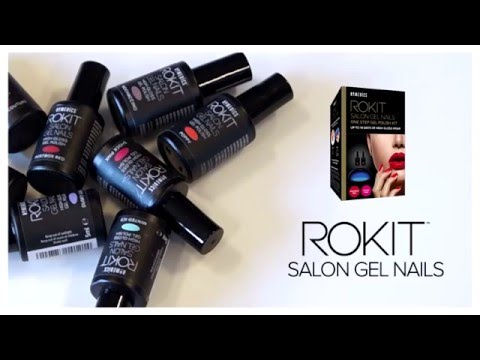 How to do Gel Nails at Home - Rokit Gel Nail Kit - YouTube