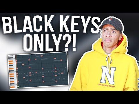 Making A Beat From Scratch ONLY Using Black Keys!!! (Fl Studio 12 Challenge)   Sharpe