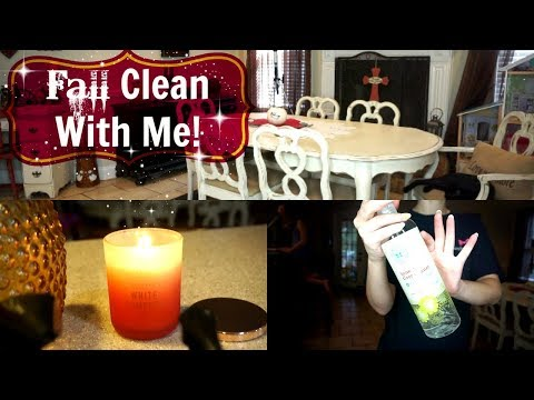 Fall Clean With Me!| Cleaning Motivation 2017| Cleaning with 2 kids!