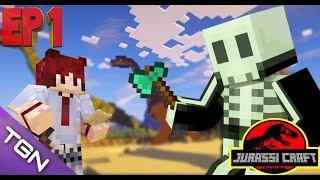 Minecraft JurassiCraft #1 [โบ้ท&เป้] เริ่มต้นกันวันเเรกในโลกของไดโนเสาร์