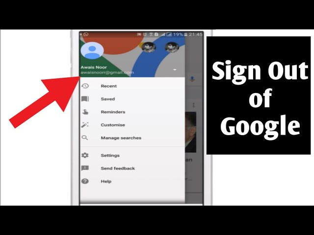 How To Sign Out Of Google Account Android Youtube