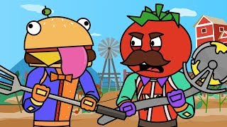Tomato & Burger Explore Frenzy Farm (Fortnite Animation Compilation)