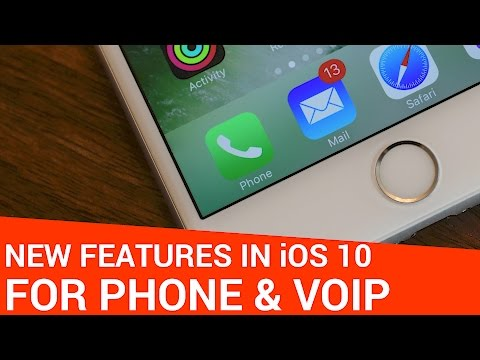 iOS 10 New Features: Phone, Contacts, VoIP API, & Voicemail Transcription