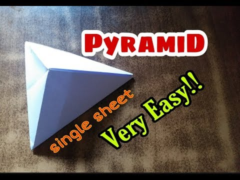 How To Make Paper Pyramid 3 Sided With Just Single Sheet Very Easy!!!