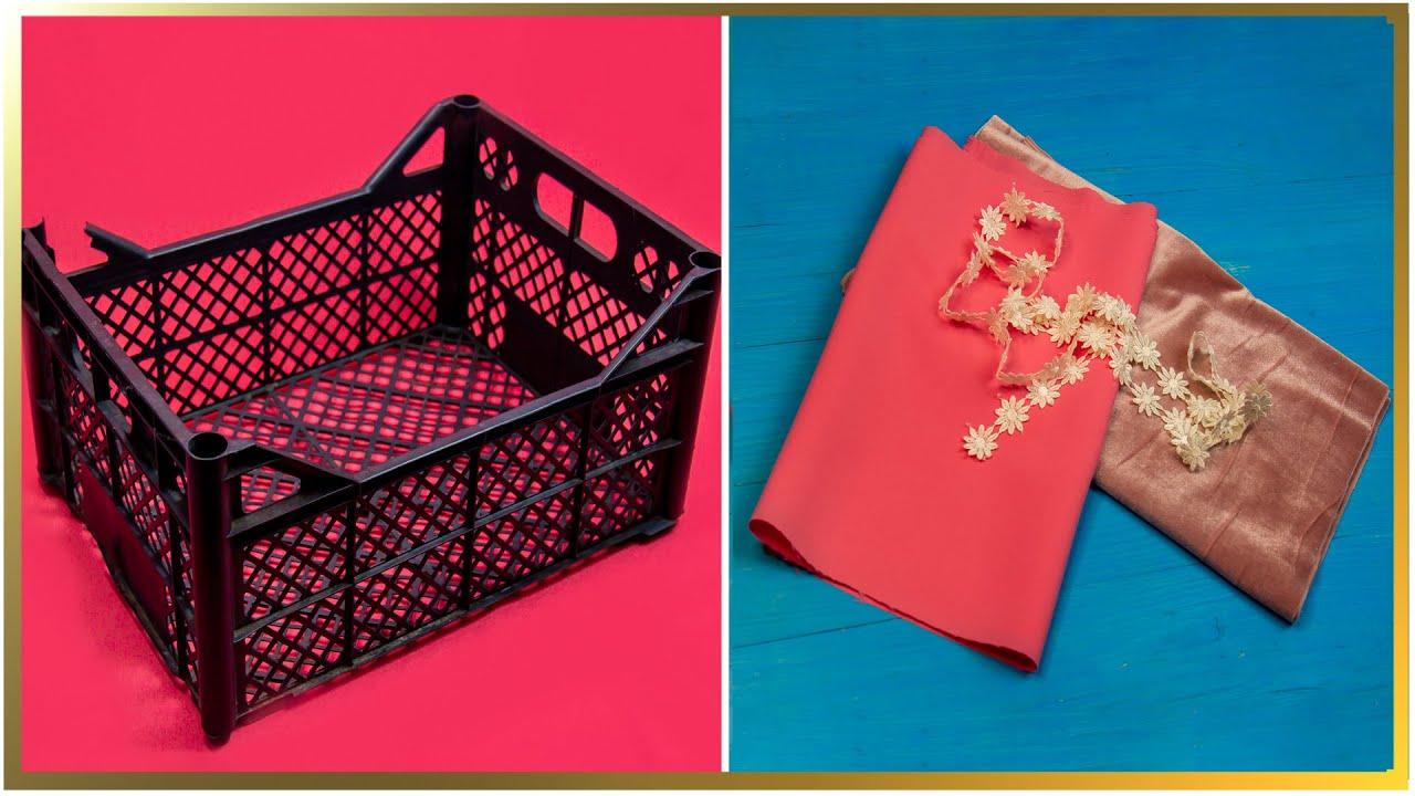Idee grozavă pentru lăzi din plastic! Cum să reciclezi plasticul practic și util.