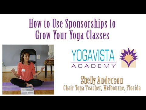 How to Use Sponsorships to Grow Your Yoga Classes with Shelly Anderson