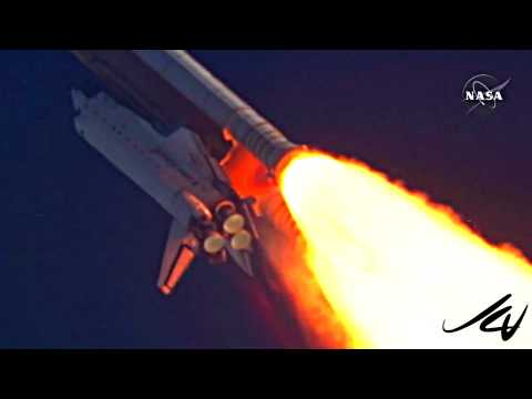 Space Shuttle Launch  STS-135 Atlantis -  music by  DAVID BOWIE - MAJOR TOM