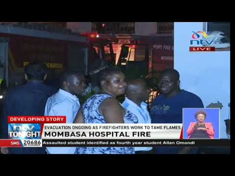 BREAKING: Fire breaks out at Mombasa Hospital