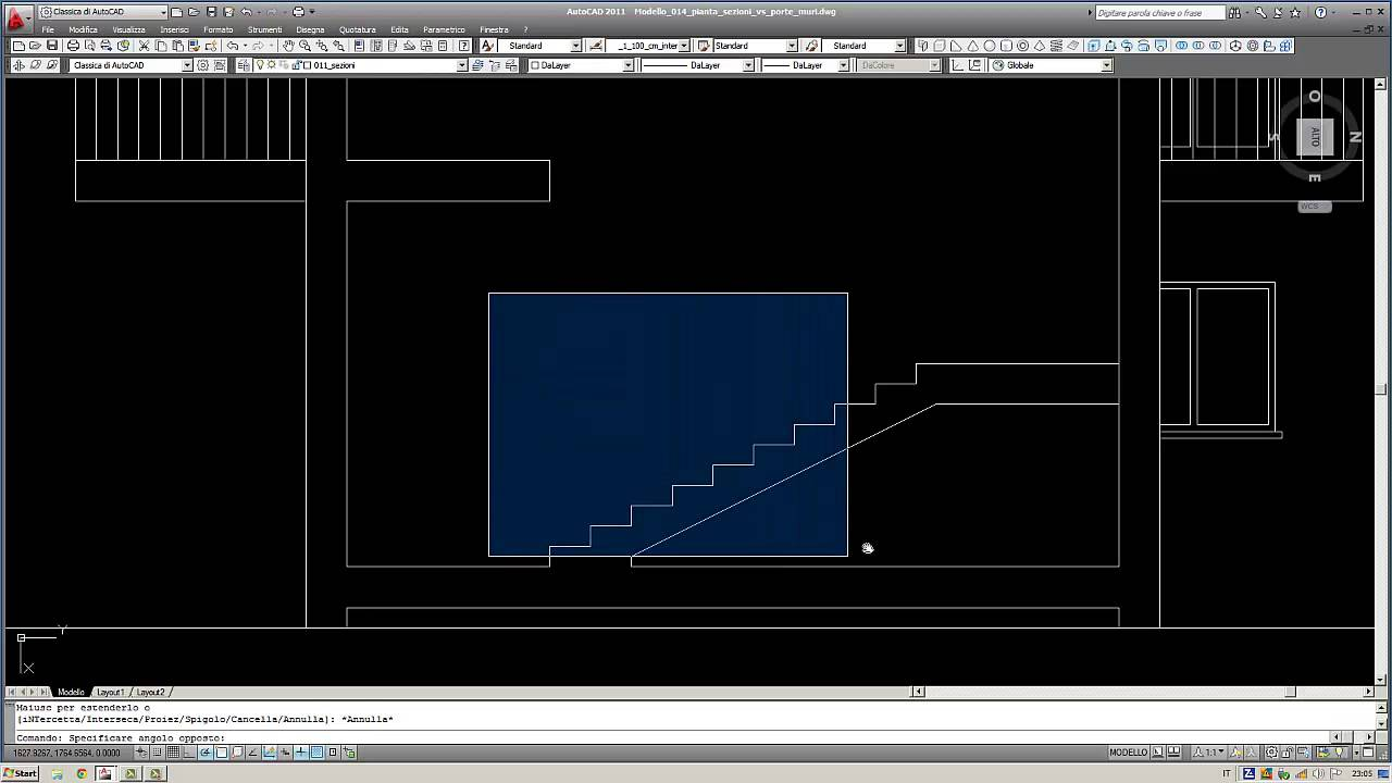 Lezione 012 scale sezione trasversale youtube for Scale in pianta