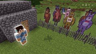 Minecraft: DESAFIO DA BASE VS ANIMATRONICS FIVE NIGHTS AT FREDDY
