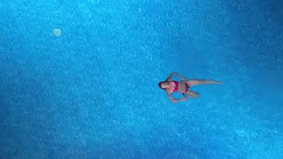Girl Swimming In The Pool Stock Video