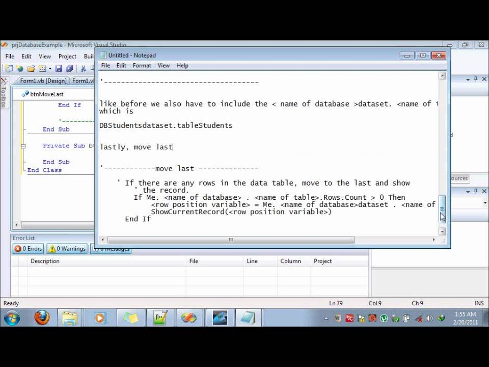 VB  NET 2008 MS Access Database simple connection Tutorial part 2
