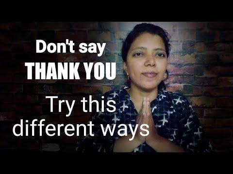 Different ways to say THANK YOU   Spoken English through Tamil thumbnail