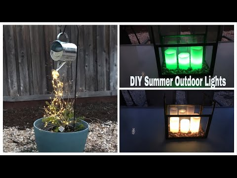 DIY Dollar Tree Summer Outdoor Patio Lights || DIY Backyard Lights