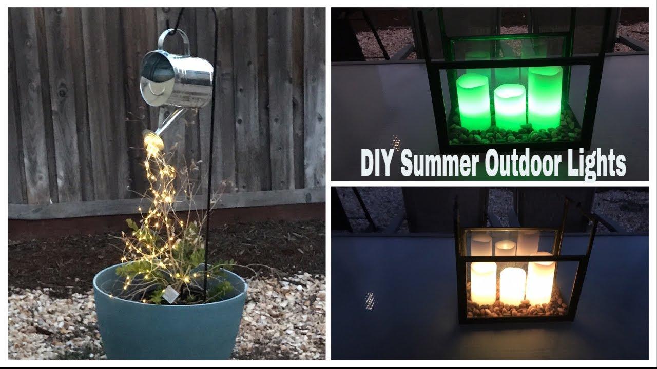 DIY Dollar Tree Summer Outdoor Patio Lights    DIY Backyard Lights