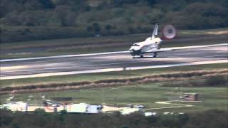 STS-133 Discovery - Landing Replays - VAB Roof