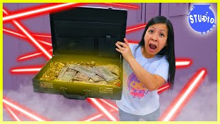 Ryan's Mommy becomes SUPER SECRET SPY LIKE RYAN to find Missing Briefcase!