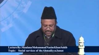 Urdu Speech: Social Services of Ahmadiyya Muslim Jama'at (Jalsa Salana Qadian 2012)