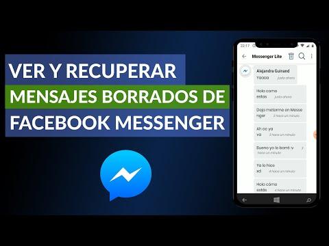 Cómo ver y Recuperar Mensajes Borrados de Facebook Messenger Desde Celular