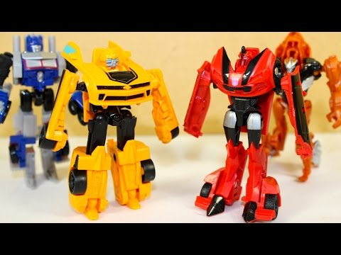 TRANSFORMERS 4 & 6 STEP STINGER BUMBLEBEE OPTIMUS GRIMLOCK ACTION FIGURES