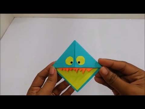 Easy Paper Monster | Corner Bookmarks with paper