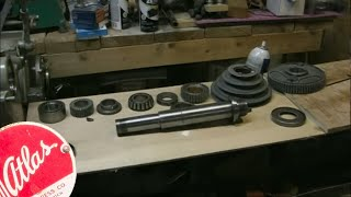 Atlas 10F Lathe - TH54 - 03 - Headstock Spindle Installation