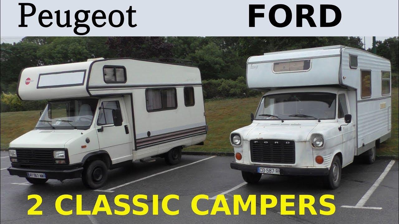 8 Classic Campers - Alte Wohnmobile Peugeot J8 Bürstner + Ford Transit
