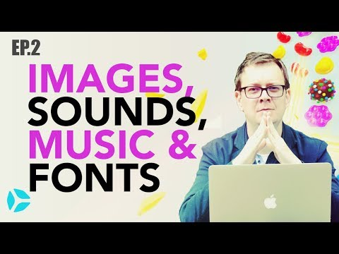 Add Images, Sounds, Music and Font in Anti Candy Crunch (Free Course!)