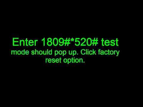 LG GW520 Reset Factory Code