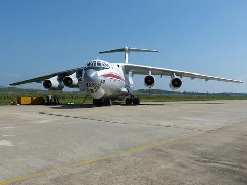 Air Koryo IL-76 takeoff approach landing @ FNJ Pyongyang Airport