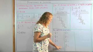 Cómo convertir fracciones a decimales