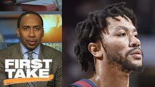 Stephen A. Smith: Cavaliers shouldn't want Derrick Rose back on team | First Take | ESPN thumbnail