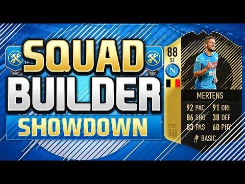 FIFA 18 SQUAD BUILDER SHOWDOWN!!! SECOND INFORM MERTENS!!! SIF Dries Mertens Squad Duel