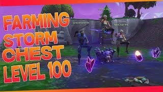 FARM STORM CHEST SAFE OF LEVEL100 (PICS HARDIS) FORTNITE SAUVER THE WORLD PS4/PC FR 720HD