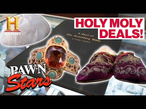 Pawn Stars: *HOLY MOLY DEALS* (6 Expensive Religious Items)   History