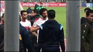 سباب لاعبي الزمالك من الجماهيرعقب انتهاء مباراة نصر حسين داي بالتعادل