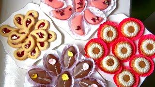 كلش غالي بصح بمقادير قليلة حضرت 4 انواع حلويات وبكمية كبيرة💜اروع حلويات تشوفيهم في حياتك