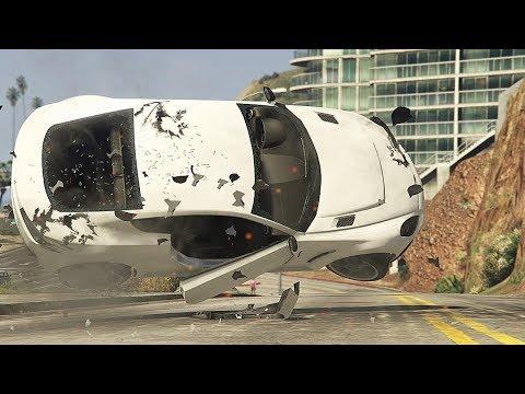 GTA 5 Unbelievable Car Crashes Compilation thumbnail