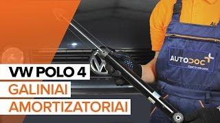 Kaip pakeisti Galiniai amortizatoriai VW POLO 4 PAMOKA | AUTODOC
