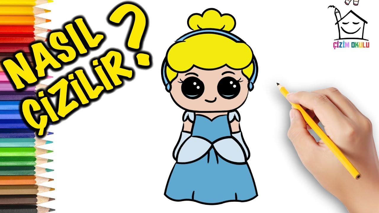 Nasıl Çizilir? - Cinderella Disney -  Resim Çizme - ÇİZİM OKULU