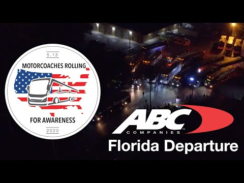 Motorcoaches Rolling For Awareness: ABC Companies Florida Departure