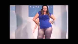 The pretty plus size model Cleo Fernandes in summer fashion week