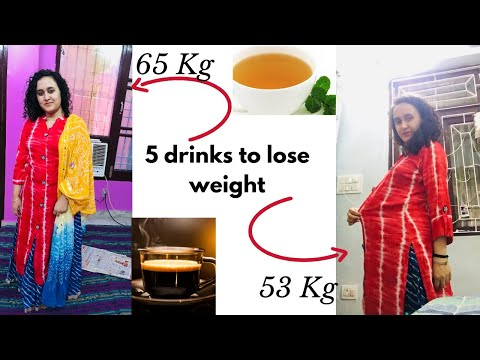 5 Drinks to lose weight fast | Natural Drinks Available at Home | Simple & Affordable