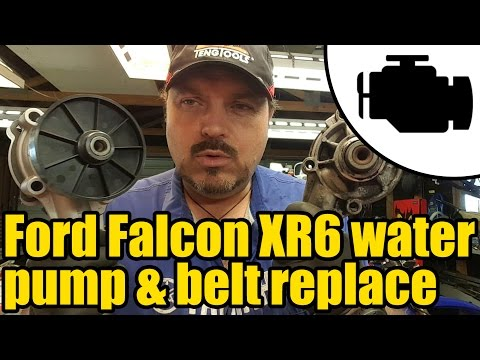 Ford Falcon XR6 Water Pump, Tensioner & Belt Replacement #1153