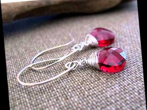 Dangle Earrings - Sterling Silver Earrings with Swarovski Crystals, Gesmotnes