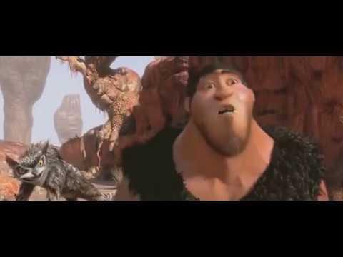 Смешной момент - из мультфильма Семейка Крудс