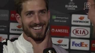 Kevin Trapp im DAZN Interview nach Frankfurt vs Benfica Lissabon