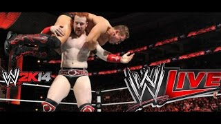 WWE 2K14 Live Commentary - The Miz Captures United States Championship From Sheamus - WWE Live Event